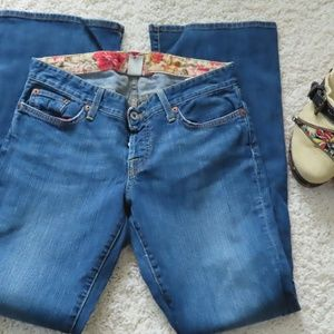 Straight Leg Low Rise Jeans By Lucky Brand